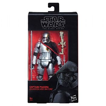 Pre-Order - Star Wars Black Series Captain Phasma with Quicksilver Baton US Exclusive Action Figure